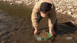 how to pan for gold in a creek