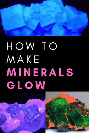 how to make minerals glow