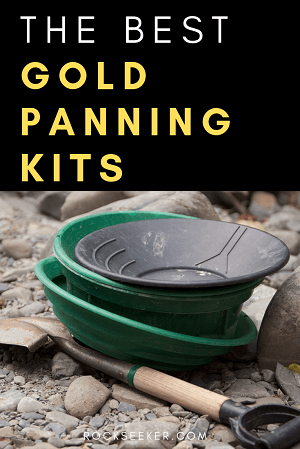 a stack of gold pans for prospecting