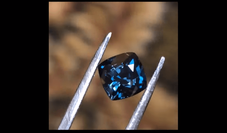 rare gemstone blue garnet