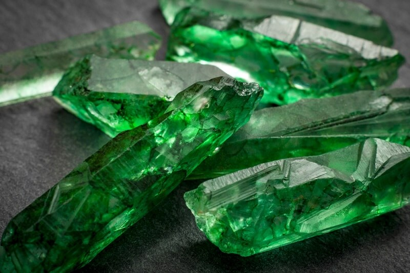 rare emerald gemstone crystals